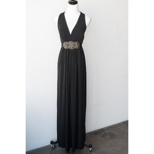 Ice long dress with beaded belt detail